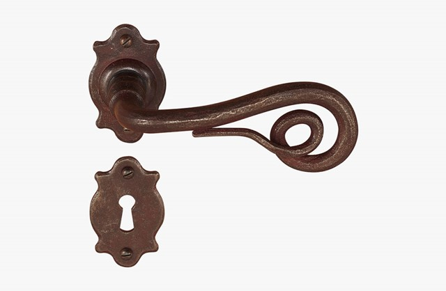 Forged iron door handle