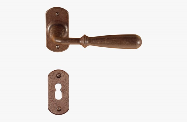 Iron door handle