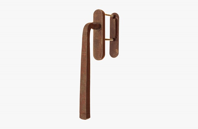 Forged iron pull handle for sliding patio door