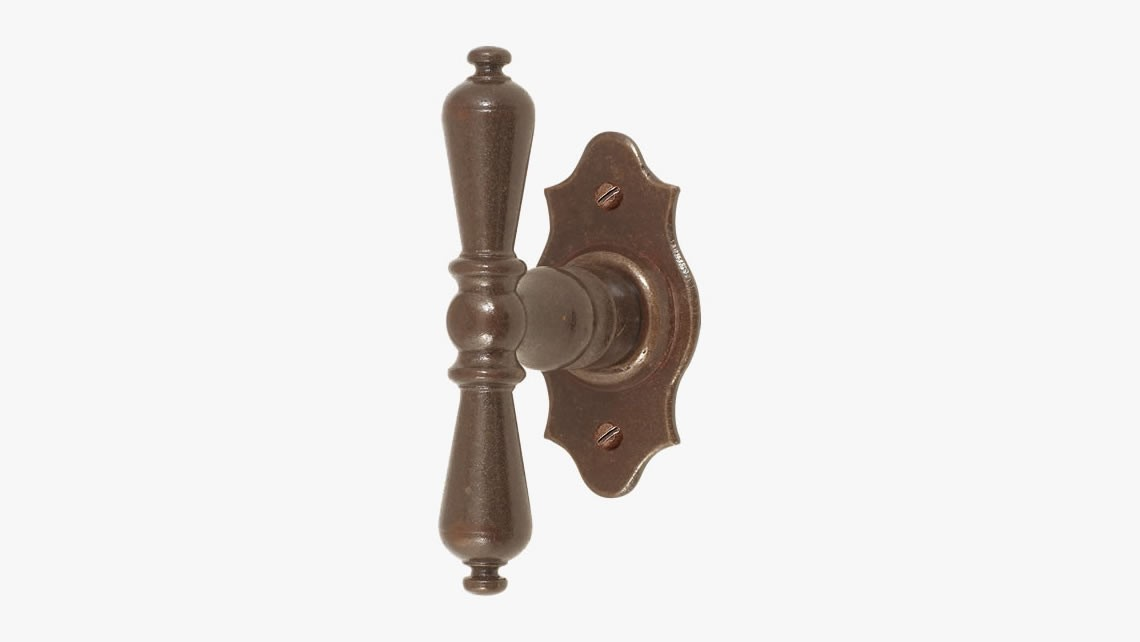 Iron window handle