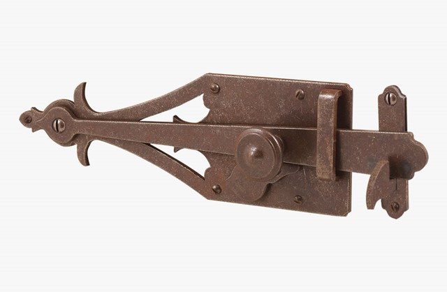Iron thumb latch