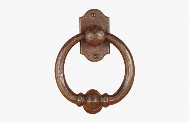 Forged iron door knocker