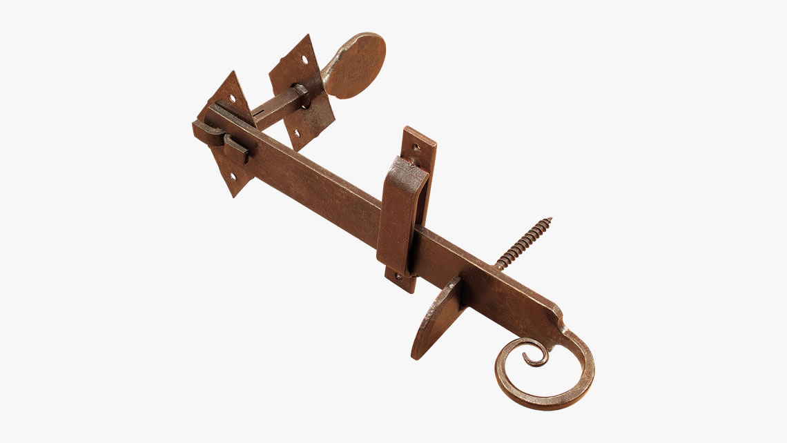 Forged iron thumb latch
